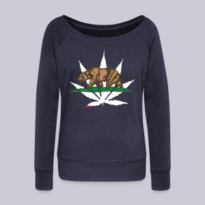 Cannabis Bear - Women's Wideneck Sweatshirt
