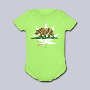 Cannabis Bear - Short Sleeve Baby Bodysuit