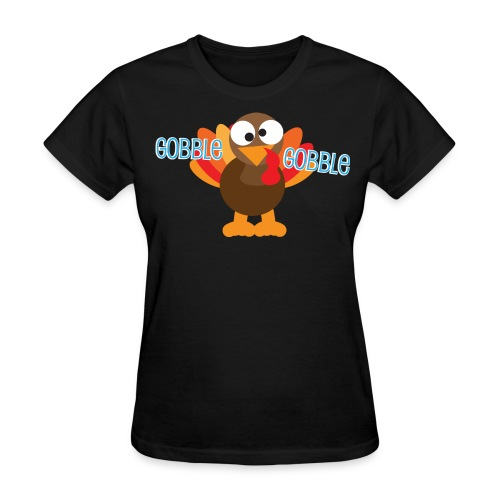Cute Gobble Gobble Turkey - Women's T-Shirt