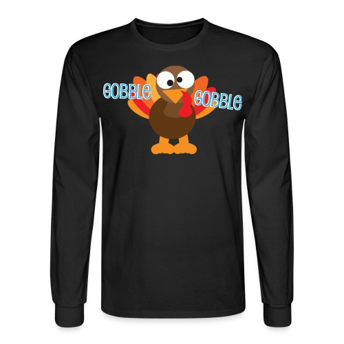 Cute Gobble Gobble Turkey - Men's Long Sleeve T-Shirt