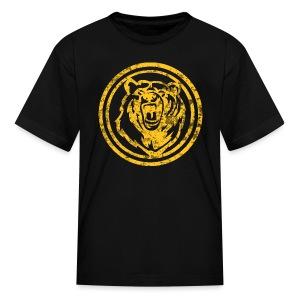 Circle Yellow Bear - Kids' T-Shirt