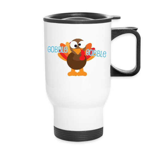 Cute Gobble Gobble Turkey - Travel Mug