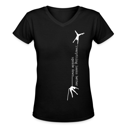 Fitted V-Neck T-Shirt - Women's V-Neck T-Shirt