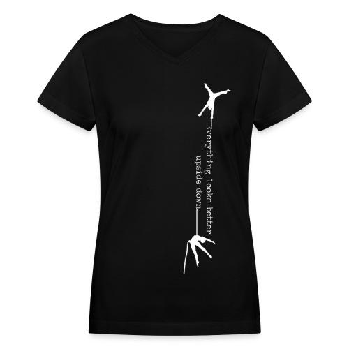Fitted V-Neck T-Shirt - Women's V-Neck T-Shirt