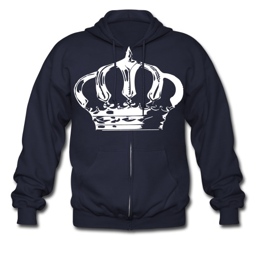The Royal chest piece - Men's Zip Hoodie