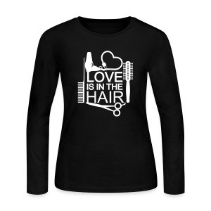 Love Is In The Hair Tee - Women's Long Sleeve Jersey T-Shirt