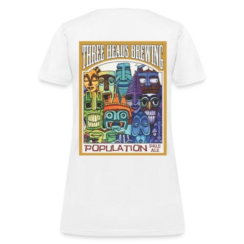 Population Pale Ale - Black Logo - Women's T-Shirt