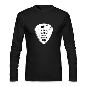 Keep calm and rock on - Men's Long Sleeve T-Shirt by Next Level