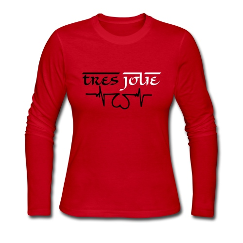 TRES JOLIE PULSE Long Sleeve in Red - Women's Long Sleeve Jersey T-Shirt