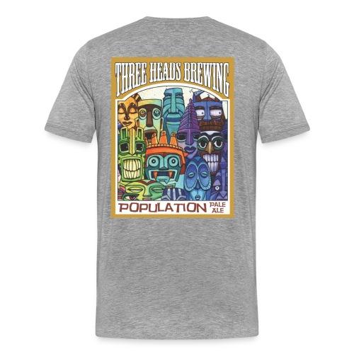 Population Pale Ale - Black Logo (Big Sizes) - Men's Premium T-Shirt