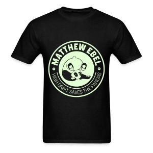 Glowing Panda Shirt - Men's T-Shirt
