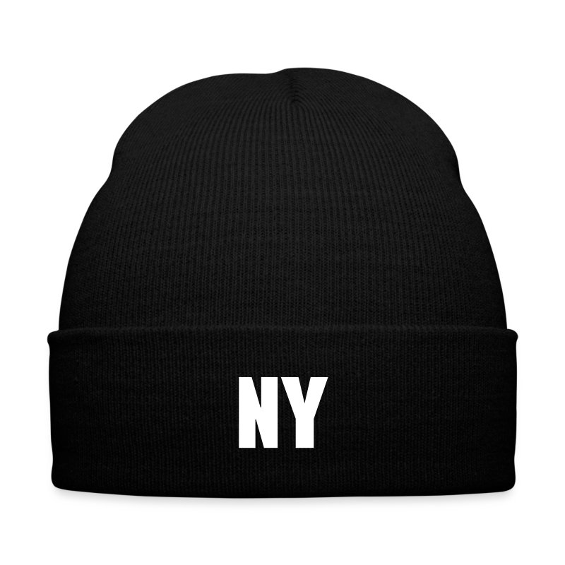 NY - Knit Cap with Cuff Print