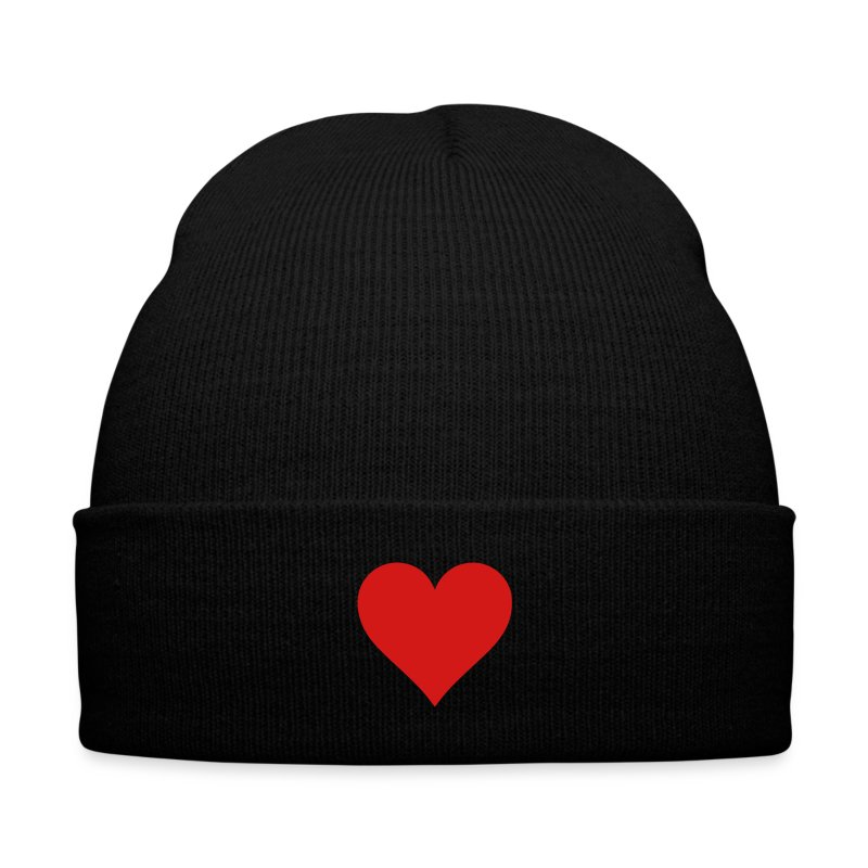Heart - Knit Cap with Cuff Print