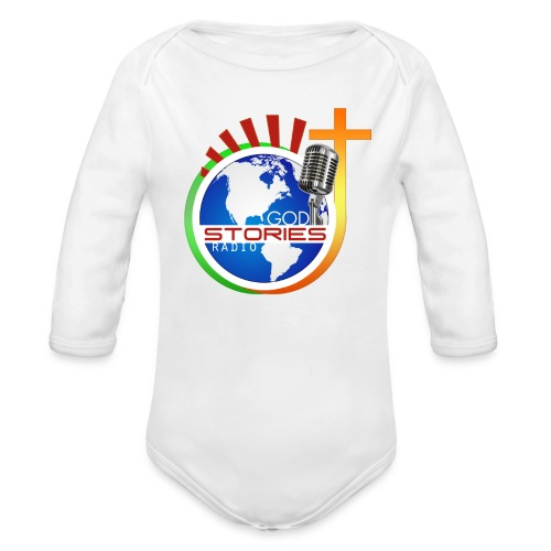 God Stories Radio official   - Organic Long Sleeve Baby Bodysuit