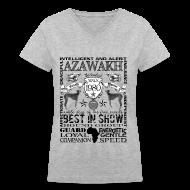 T-Shirts ~ Women's V-Neck T-Shirt ~ Women's Azawakh 'Best in Show' T shirt