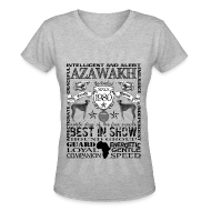 T-Shirts ~ Women's V-Neck T-Shirt ~ Women's Azawakh 'Best in Show' T shirt