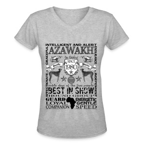 Women's Azawakh 'Best in Show' T shirt - Women's V-Neck T-Shirt