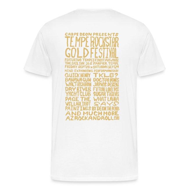 Tempe Rockstar Gold Festival - Limited Edition Men's Concert Tee