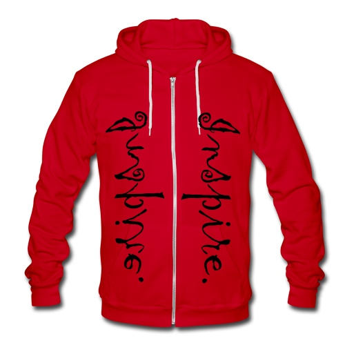 Inspire. Just one word can change the world. Double Print! - Unisex Fleece Zip Hoodie