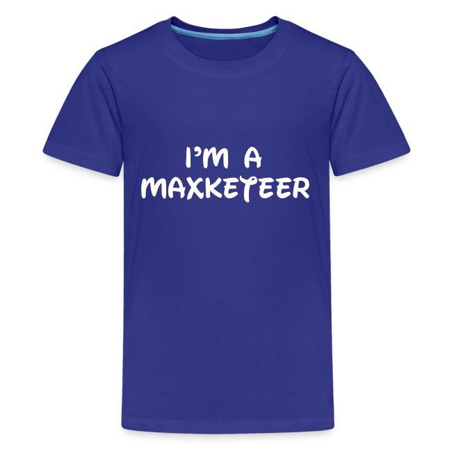 Kids I'm a Maxketeer Shirt White Font