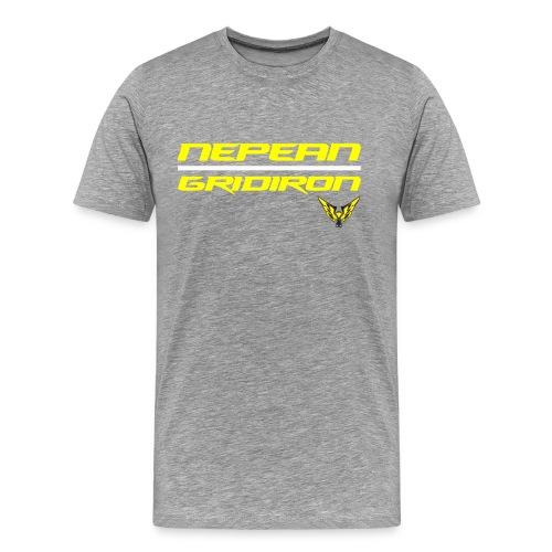 Nepean Gridiron Line of Scrimmage T-Shirt Grey - Men's Premium T-Shirt