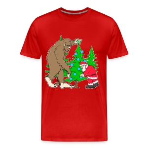 Bigfoot, Santa Christmas - Men's Premium T-Shirt