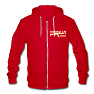 Zip Hoodies & Jackets ~ Unisex Fleece Zip Hoodie by American Apparel ~ Ladies Zipped Hoodie: Have Nice Day!