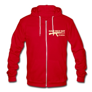 Ladies Zipped Hoodie: Have Nice Day! - Unisex Fleece Zip Hoodie by American Apparel