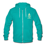 Zip Hoodies & Jackets ~ Unisex Fleece Zip Hoodie by American Apparel ~ Ladies Zipped Hoodie: Keep Calm