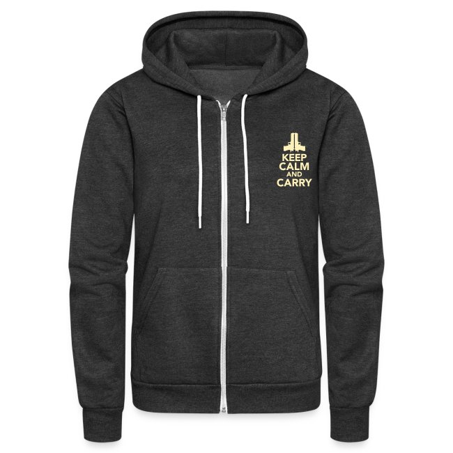 Ladies Zipped Hoodie: Keep Calm