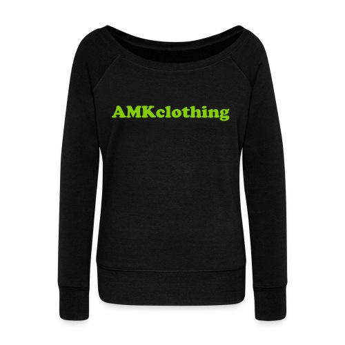 AMKclothing long sleeve - Women's Wideneck Sweatshirt