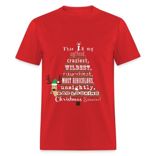 Ugly Christmas Sweater Shirt - Men's T-Shirt