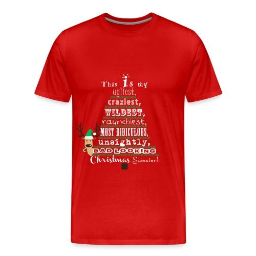 Ugly Christmas Sweater Shirt - Men's Premium T-Shirt
