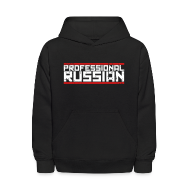 Sweatshirts ~ Kids' Hoodie ~ Kids Hooded Sweater: Pro Russian