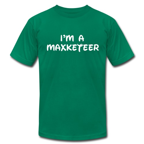 Men's I'm a Maxketeer American Apparel T-shirt White Font - Men's Fine Jersey T-Shirt
