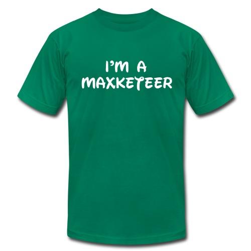 Men's I'm a Maxketeer American Apparel T-shirt White Font - Men's Fine Jersey T-Shirt
