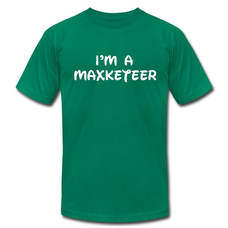 Men's I'm a Maxketeer American Apparel T-shirt White Font - Men's T-Shirt by American Apparel