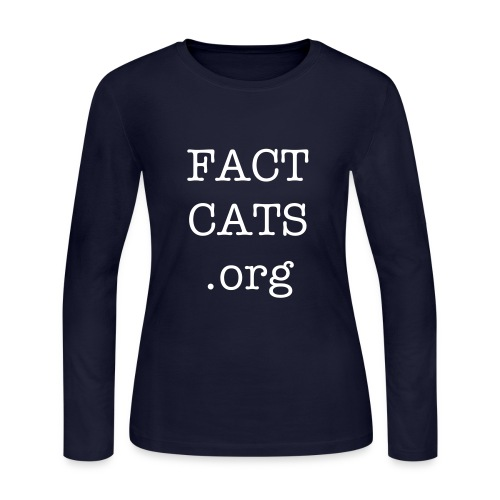 FACTCATS.ORG LS Tee Ladies - Women's Long Sleeve Jersey T-Shirt