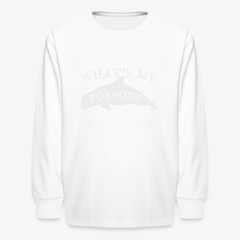 What's My Porpoise - Kids' Long Sleeve T-Shirt