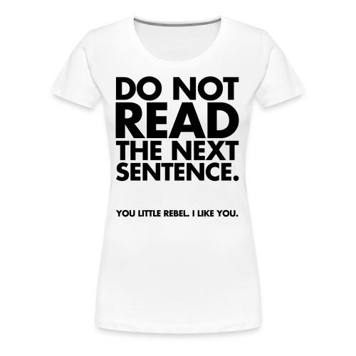Understandable - Women's Premium T-Shirt