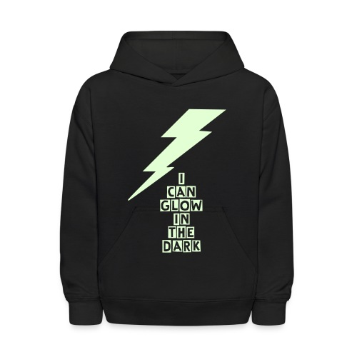 Lightning - Glow in the Dark - Kids' Hoodie