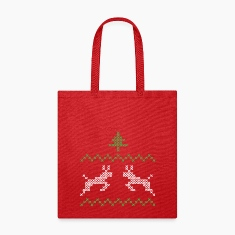 Christmas design with three and deer I Bags & backpacks