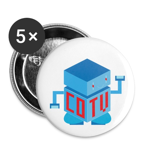 CoinOpTV Bot Button Set - Buttons small 1'' (5-pack)