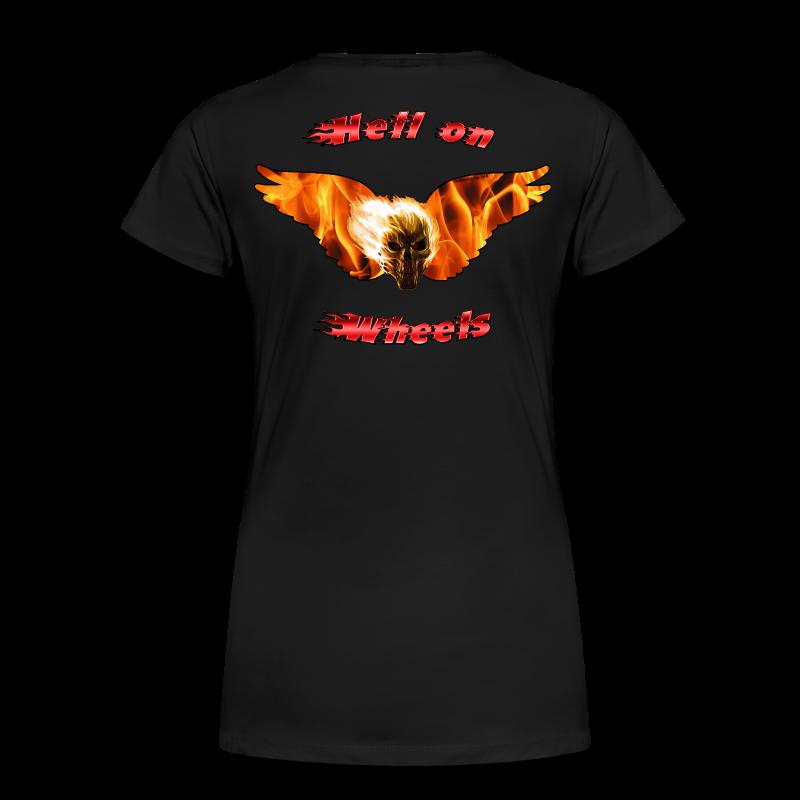 Ladies Premium T Hell on Wheels (Back) - Women's Premium T-Shirt