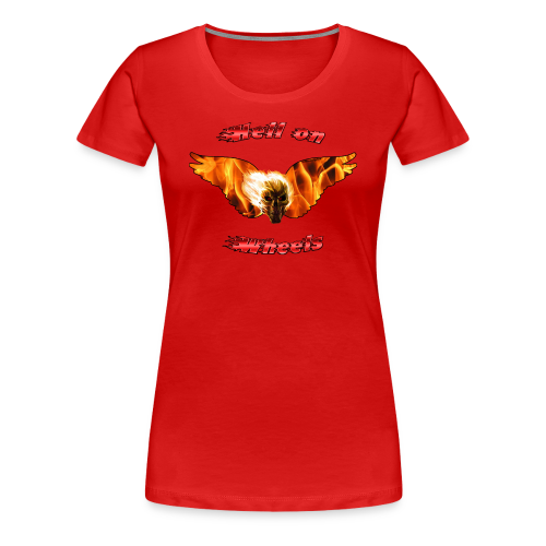 Ladies Premium T Hell on Wheels (Front) - Women's Premium T-Shirt