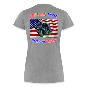 Ladies Premium T Back American Pride - Women's Premium T-Shirt