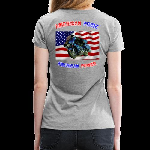 Ladies Premium T Back American Pride - Women's Premium T-Shirt