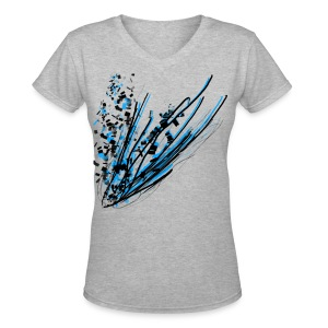 Abstracted T-shirt - Women's V-Neck T-Shirt