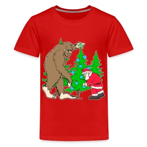 Bigfoot, Santa Christmas - Kids' Premium T-Shirt