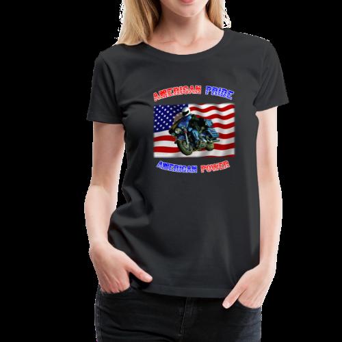 Ladies Premium T Front American Pride - Women's Premium T-Shirt